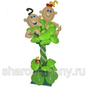 Фигура из шаров «Дети в капусте»