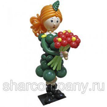 Фигура из шаров «Боевая подруга»