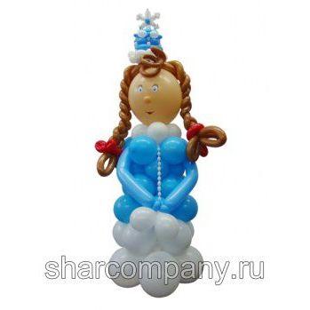 снегурочка из шариков