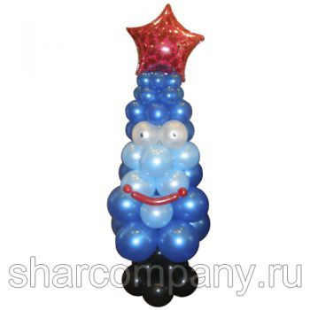 елка из воздушных шаров