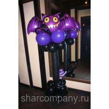 Стойка Страшная мышка из шариков