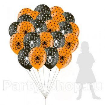 Гелиевые шары «Пауки»