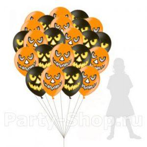 Облако воздушных шаров Тыквы
