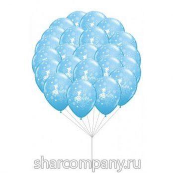 Гелиевые шары — «Ура я мальчик!!!»