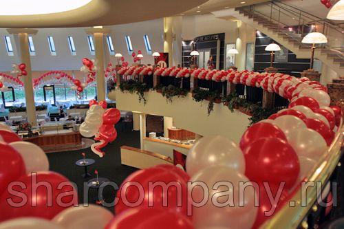 Оформление праздника М-Видео воздушными шарами