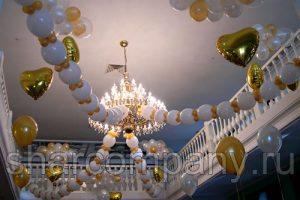 Украшение свадьбы шарами линк-о-лун