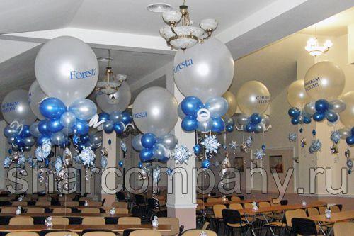 новогодняя композиция с большими шарами