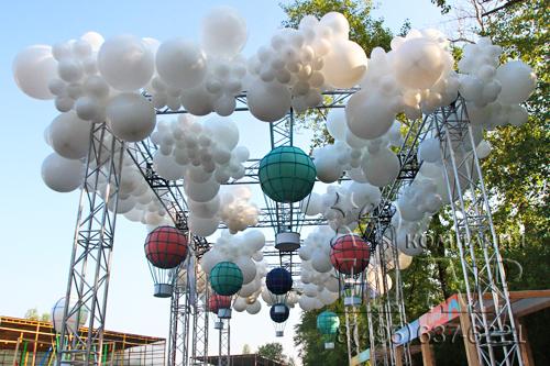 облака из шаров на заказ