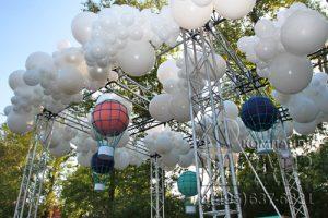 Облака воздушных шаров для праздника компании Касперский