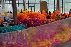 Раздача 40.000 воздушных шаров