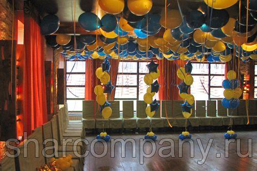 украшение шарами корпоративного праздника