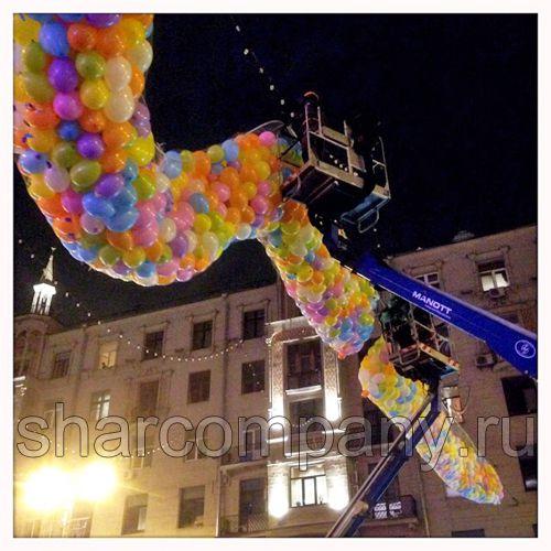 Крупнейший сброс воздушных шаров