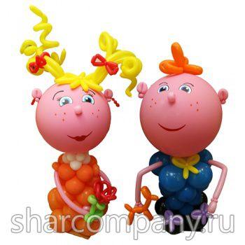 фигуры школьников из шаров