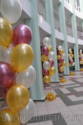 Оформление шарами выпускного в МГУУ