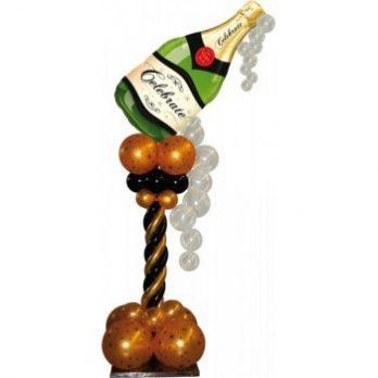 Стойка из шаров «Брызги шампанского»