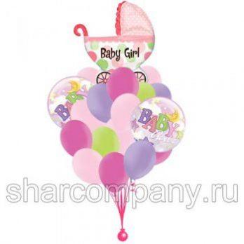 Букет гелиевых шаров «Для малышки»