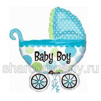 фольгированный шар - детская коляска