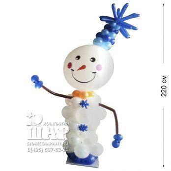 Фигура из шаров «Веселый снеговик»
