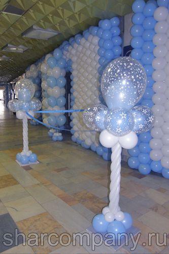 Ажурные стойки из шаров