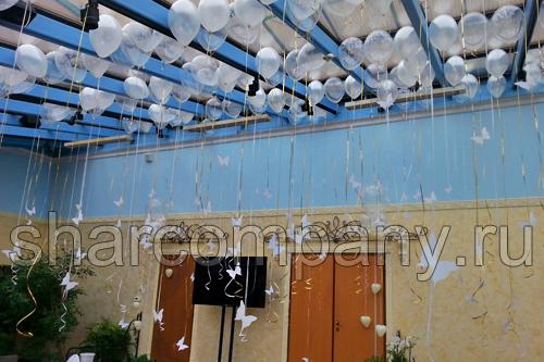 Украшение свадьбы шарами и бабочками