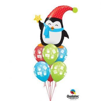 Букет из шаров «Пингвин спешит на праздник»
