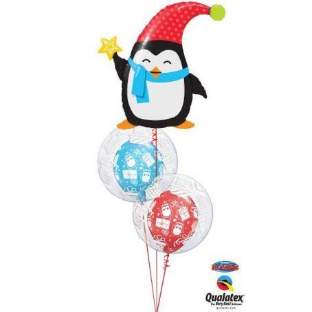 """Букет из шаров """"Пингвин с подарками"""""""