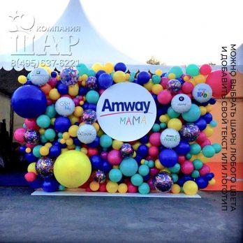 Панно из шаров «Amway»