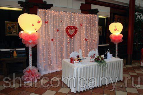 Столбики из шаров с подсветкой