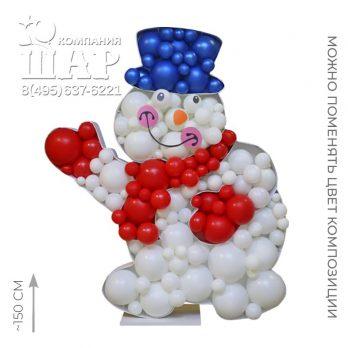 Аэромозаика «Снеговик»
