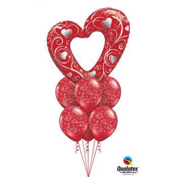 Букет из шаров «Горячая любовь»