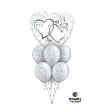 Букет из шаров «Парящие сердца»