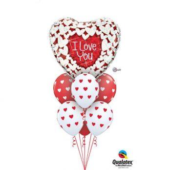 Букет из шаров «Сверкающие Сердца»