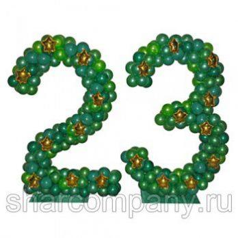 Композиция из шаров «Цифры 23»