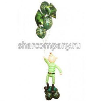 Фигура из шаров «Настоящий солдат»