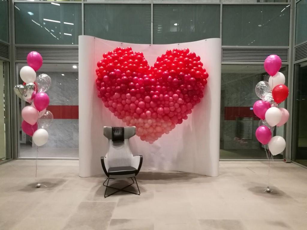 Огромное сердце для офисного центра