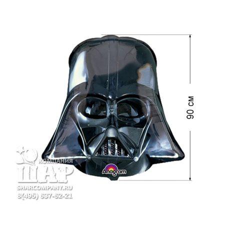"""Фольгированный шар """"Звездные Войны Шлем Вейдера"""""""