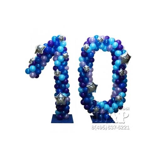 Цифры из шаров «Звёздные»