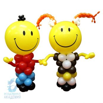 Фигуры из шаров «Мальчик и девочка»