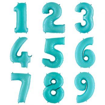 Фольгированная цифра голубая