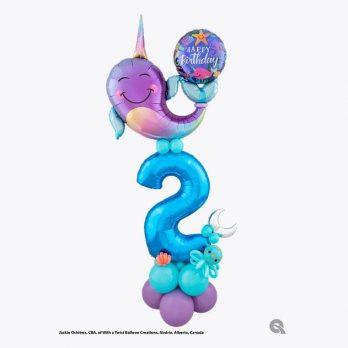 Цифра из шаров «Нарвал поздравляет»