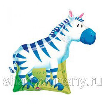 фольгированный шар зебра