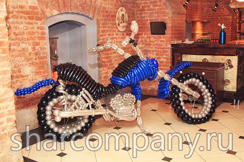 фигура из шаров мотоцикл
