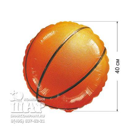 """Фольгированный шар """"Баскетбольный мяч"""""""