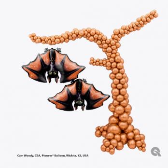 Фигура из шаров «Страшное дерево»