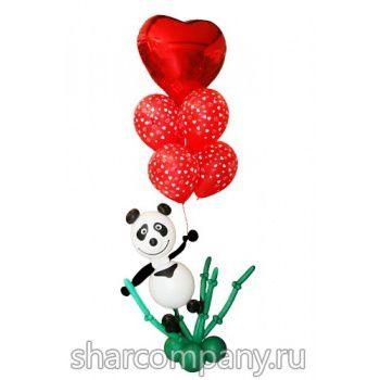 фигура из шаров панда
