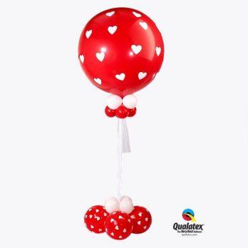 Большой шар «Сердечки»