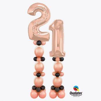 Цифры из шаров «21 роза»