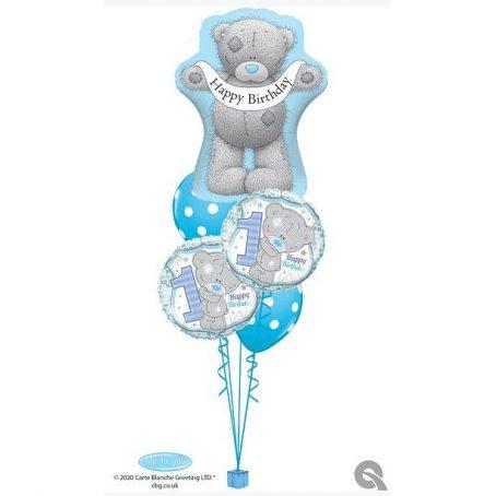 """Букет из шаров """"Мишка Тедди поздравляет мальчика"""""""