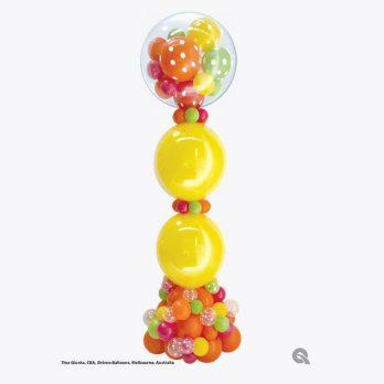 Стойка из шаров «Пузырьковая колонна»