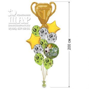 Букет воздушных шаров «Чемпион футбола»